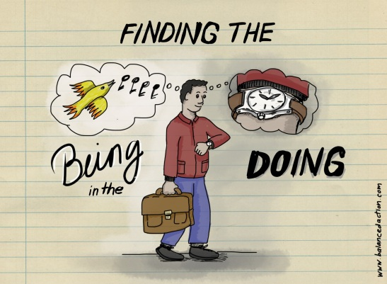 Finding the being in the doing